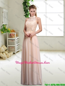 Elegant Laced and Bowknot Mother Of The Bride Dresses with Halter Top
