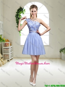 Perfect One Shoulder Appliques Mother Of The Bride Dresses in Lavender