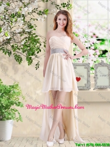 Affordable High Low Sweetheart Mother Of The Bride Dresses in Champagne