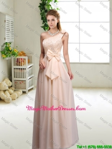 Discount One Shoulder Mother Of The Bride Dresses in Champagne