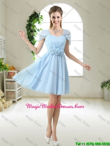 Pretty Hand Made Flowers Mother Of The Bride Dresses with Cap Sleeves