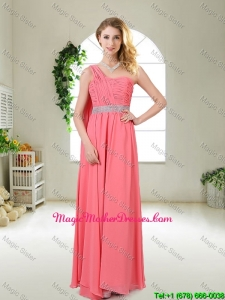 Pretty One Shoulder Sequined Mother Of The Bride Dresses in Watermelon Red