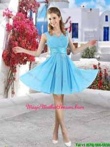 Popular Mini Length 2016 Mother Of The Bride Dresses in Aqua Blue