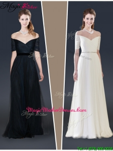 2015 Winter Perfect Empire Off the Shoulder Mother Of The Bride Dresses