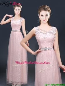 2016 Pretty Empire Scoop Mother Of The Bride Dresses with Lace and Appliques