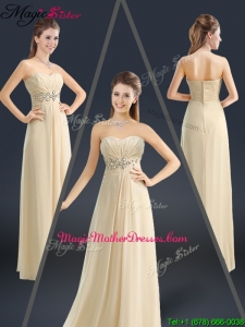 Latest Sweetheart Beading Mother Of The Bride Dresses in Champagne
