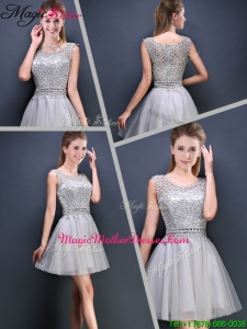 Perfect Mini Length Scoop Mother Of The Bride Dresses with Appliques