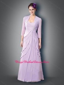 2016 Classical Empire Sweetheart Lavender Mother of The Bride Dress