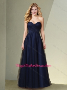 2016 Pretty Empire Sweetheart Mother of The Bride Dress in Navy Blue