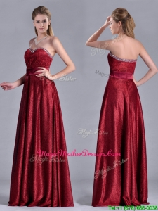 Classical Empire Sweetheart Wine Red Mother Of Groom Dress with Beaded Top