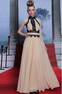 Super Sleeveless Criss Cross Floor Length Beading Mother Of The Bride Dress