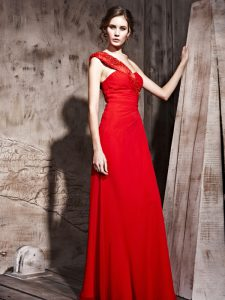 Luxury Red Mother Of The Bride Dress Prom and Party with Beading Sweetheart Sleeveless Side Zipper