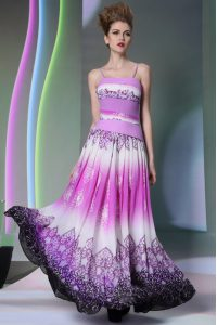 Customized Multi-color Spaghetti Straps Side Zipper Ruching Mother Of The Bride Dress Sleeveless