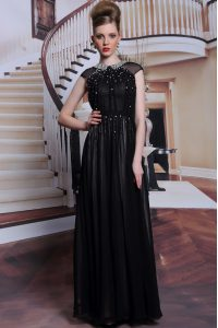 Scoop Sleeveless Beading and Appliques Zipper Mother Of The Bride Dress