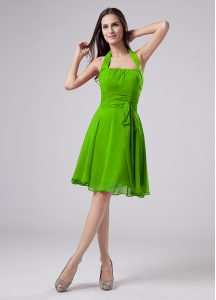 Sumptuous Zipper Halter Top Ruching Mother Of The Bride Dress Chiffon Sleeveless