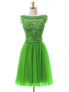 Mother Of The Bride Dress Prom and Party with Beading Bateau Sleeveless Zipper
