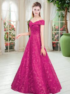 Trendy Lace Sleeveless Floor Length Mother Of The Bride Dress and Beading