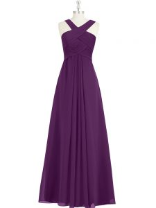 Best Selling Sleeveless Zipper Floor Length Ruching Mother Of The Bride Dress