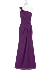 Floor Length Column/Sheath Sleeveless Eggplant Purple Mother Of The Bride Dress Side Zipper