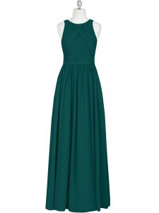 Ideal Scoop Sleeveless Chiffon Mother Of The Bride Dress Ruching Zipper
