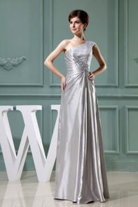 Custom Made One Shoulder Silver Mother of the Groom Dresses Factory