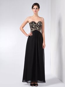 Beaded Chiffon Black Maxi Mother of the Bride Outfits in The Mainstream