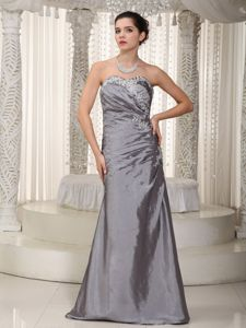 Column Appliqued Gray Long Mother of the Groom Dresses Wholesale