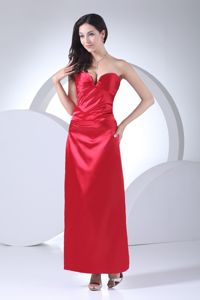 Discount Red Sweetheart Ankle-length Mother of The Groom Dresses in Red Deer