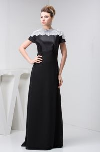 Best Black High-neck Floor-length Empire Dresses for Bride Mother in Repentigny