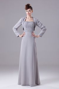Grey Strapless Floor-length Empire Mother of The Groom Dresses in Burlington