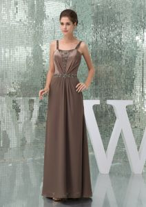 Straps Floor-length Empire Brown Mother Dress for Formal Prom in Waterloo