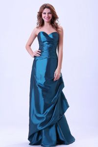 Cromer Norfolk Sweetheart Column Teal Taffeta Mother of the Bride Dress