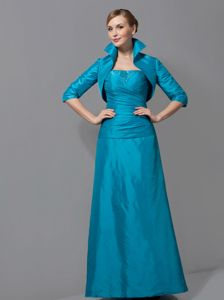 Strapless Teal Column Ruches Mother of the Bride Dress in Dereham Norfolk
