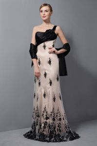 Ravenglass Lake District Champagne One Shoulder Flower Lace Mother Dress