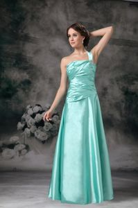 One Shoulder with Beading Aqua Dresses For Bride Mother in Gatlinburg