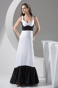 Elegant Black and White Straps Mother of The Bride Outfits in Clarksville