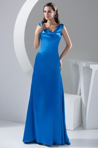 Fabulous Cowl Neck Royal Blue Mother Bride Dresses in Church Hill