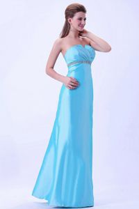 Aqua Blue Beaded Strapless Mother of The Groom Dresses in Blountville