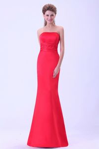 Mermaid Coral Red Mother of The Bride Outfits in Blaine with Brush