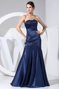 Beaded Navy Blue Mother of Bride Dress in Bean Station with Appliques