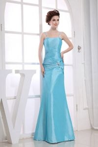 Spaghetti Straps Aqua Blue Mermaid Mother of Bride Dresses in Tennessee