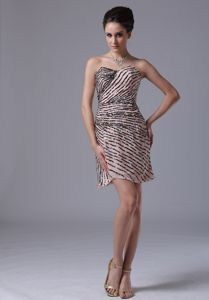 Sweetheart Mini-length Mother of Bride Dress in Yankton with Sequins
