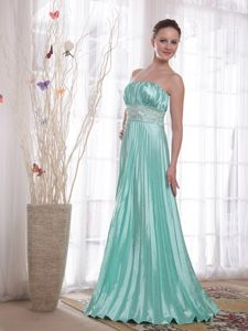 Strapless Beading Apple Green Mother of The Bride Dresses in Scotland