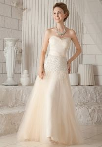 Champagne A-line Mother of The Bride Dresses in Piedmont with Beading