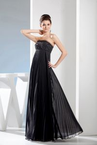 Long Black Beading Accent Mother of The Bride Dresses in Kennebec