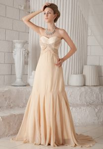 Champagne A-line Court Beaded Mother of The Bride Dresses in Aberdeen