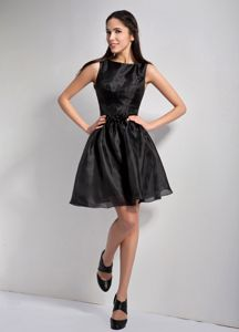 2013 Bateau Mini-length Black A-line Dresses For Bride Mother Beaded