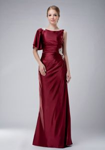 Burgundy Bateau Appliques Mother Of The Groom Dress in Massachusetts