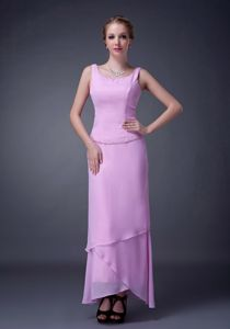 Scoop Pink Ankle-length Mother Of The Bride Dress Beaded in Nebraska