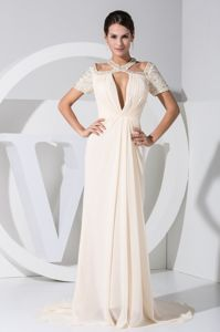 Chiffon Plunging Neckline Mother Of The Bride Dresses with Cutouts